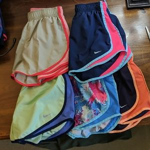 5 pairs of Nike Tempo Shorts